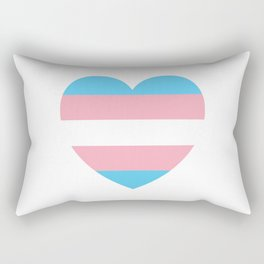 Trans Pride Heart Rectangular Pillow