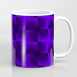 Rotated rhombuses of violet crosses with shiny intersections. Coffee Mug