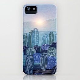 Lines in the mountains 04 iPhone Case