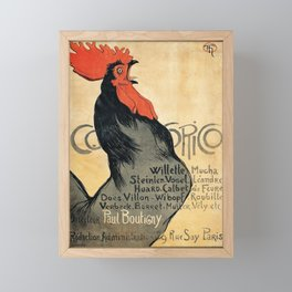 Cocorico by Theophile Steinlen, 1899 Framed Mini Art Print