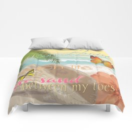 Florida Beach Water The Sunshine State Collage Comforters