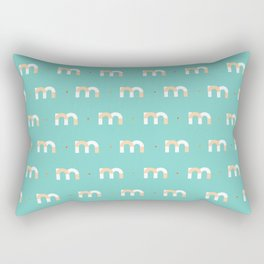 36 days of type - m Rectangular Pillow
