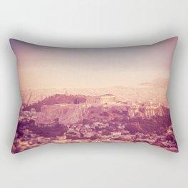Sunset Over Athens Rectangular Pillow