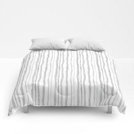 Grey Watercolour Stripes Comforters
