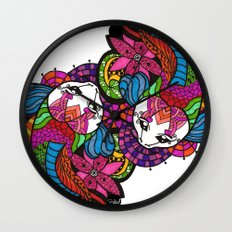 Koi Zentangle Wall Clock