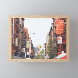 Mulberry Street Little Italy Framed Mini Art Print