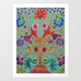 kalamkari Art Print