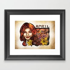 Brenda of April Framed Art Print