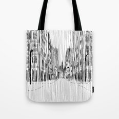 Fog and Rain: Cityscape (WHITEOUT) Tote Bag