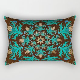 Turkish tulip - Ottoman tile 17 Rectangular Pillow