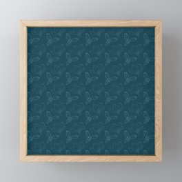 Holy Berries on Blue Framed Mini Art Print