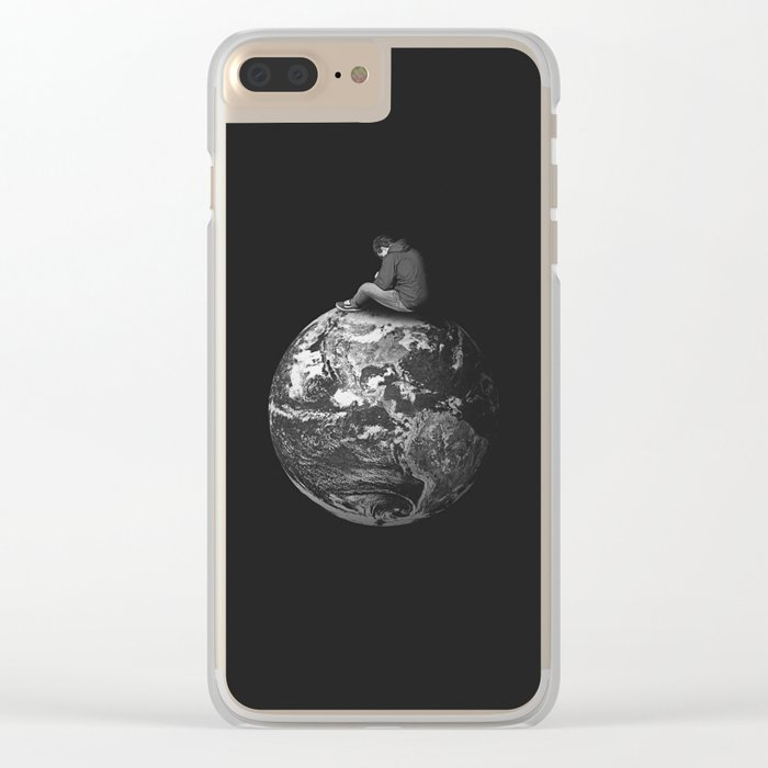 Small World Clear iPhone Case