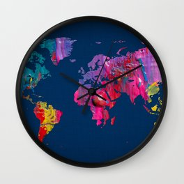 World Map 16 Wall Clock