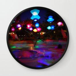 Teacups Blur at Night Wall Clock