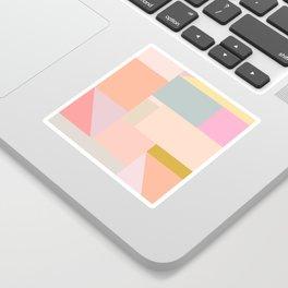 Pastel Geometric Graphic Design Sticker