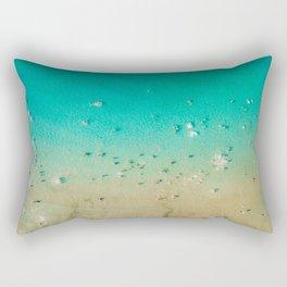I'm A True Oceanholic | Aerial Beach Photography | Beach Wall Art Poster | People Having Fun | Ocean Rectangular Pillow