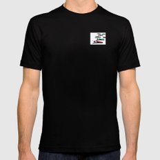March of the Peacocks MEDIUM Mens Fitted Tee Black