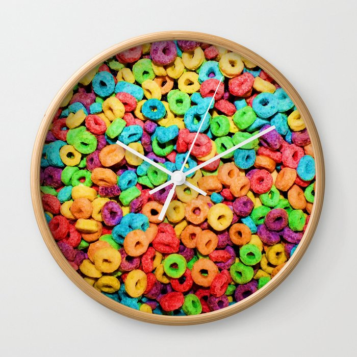 Fruit Loops Cereal Wall Clock By Chancecarter
