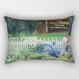 Stopping by Grandpa's barn Rectangular Pillow