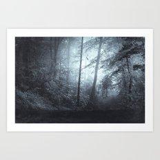 Blue Mystic ForesT Art Print
