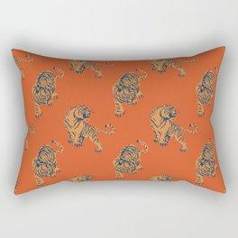 red tiger print Rectangular Pillow