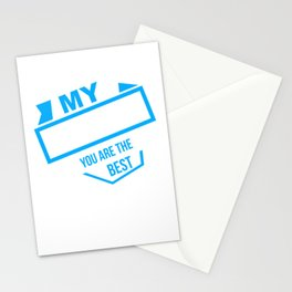 Papa Papi family love man gift Father's Day Stationery Cards