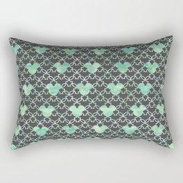 Mouse Ears Watercolor - Jasmine Mint Rectangular Pillow