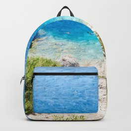 Swimming in the Cove Backpack
