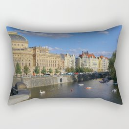 Sunny Day in Prague - View from Legion Bridge Rectangular Pillow