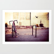 Abandoned bike Art Print