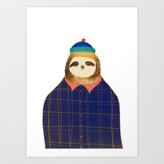 Hipster Sloths be like. Art Print