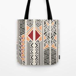 Tribal ethnic geometric pattern 034 Tote Bag