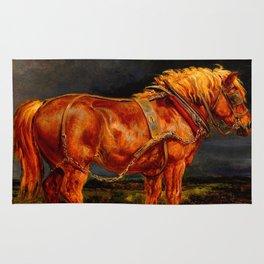 horses paintings oil Rug