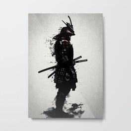 Armored Samurai Metal Print