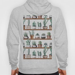 Cactus Shelf Rose Gold Green Hoody