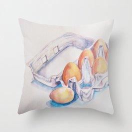 A Half Dozen Throw Pillow