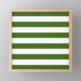 Simply Stripes in Jungle Green Framed Mini Art Print