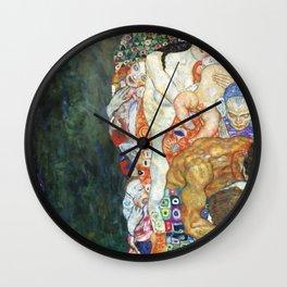 Gustav Klimt Death And Life Wall Clock