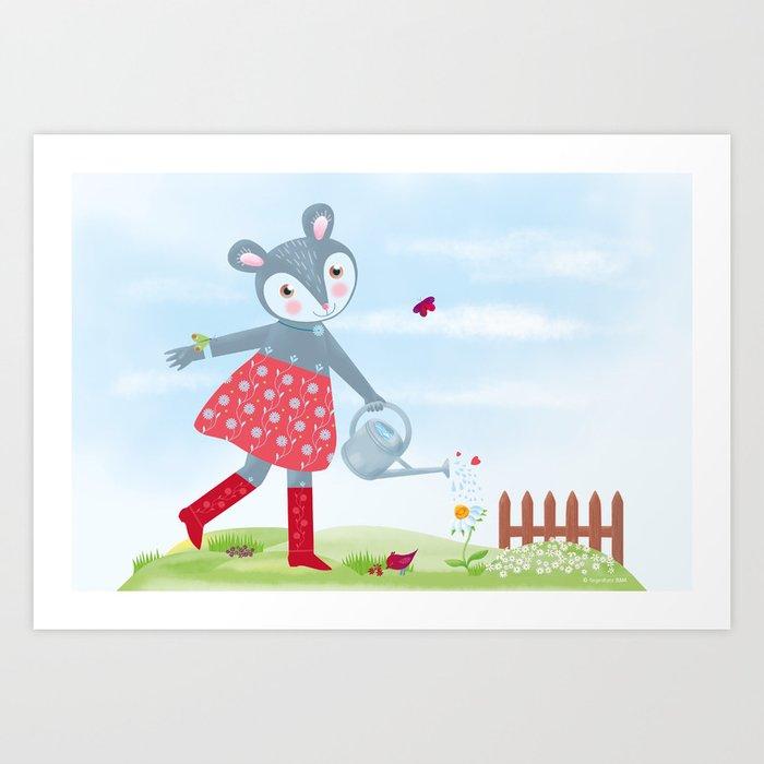 Little Mouse Fleurielle Art Print