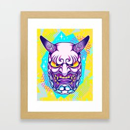 Neon Noh - Daikijin Framed Art Print