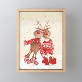 Dancing Elks Framed Mini Art Print