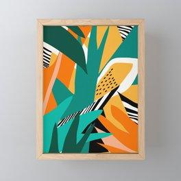 Jungle Abstract Framed Mini Art Print