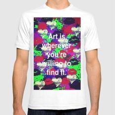Art is... MEDIUM Mens Fitted Tee White