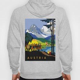 Austria - Vintage Travel Ad Hoody