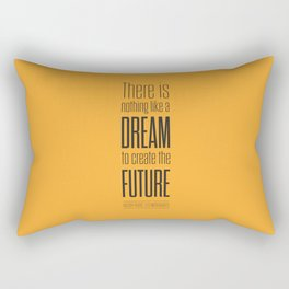 Lab No. 4 - Dream To Create Future Victor Hugo Movie Typography Quotes Poster Rectangular Pillow