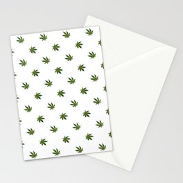 Cannabis Leaf (Mini) - White Stationery Cards