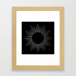 Mod Sunburst Gold 1 Framed Art Print