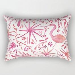 Flamingos at the Beach Rectangular Pillow