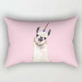 Unicorn Llama Rectangular Pillow
