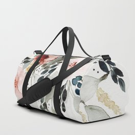 Loose Watercolor Bouquet Duffle Bag
